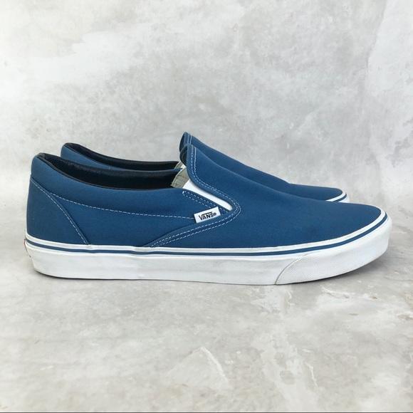 Vans Off The Wall Blue Slip On Men's Sneakers